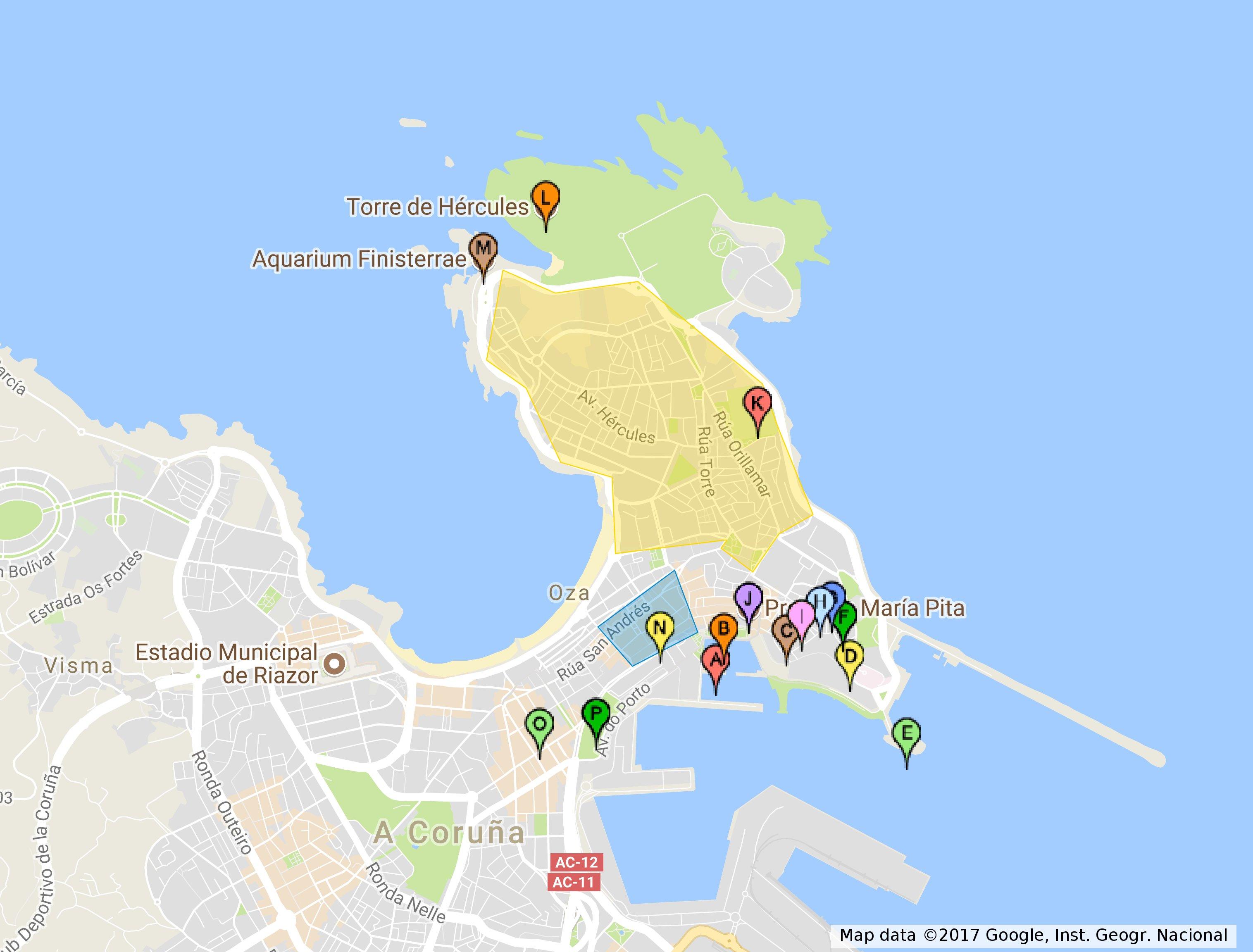 Map Of Spain La Coruna.Cruisegalicia Maps Cruise Galicia